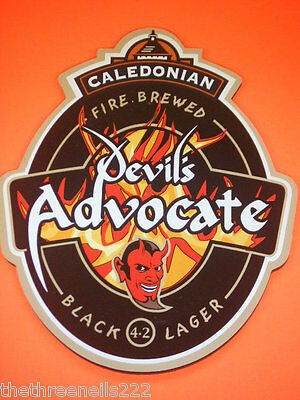 Beer Pump Clip - Caledonian Fire Brewed Devil's Advocate