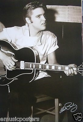 "ELVIS PRESLEY ""YOUNG ELVIS PLAYING GUITAR"" POSTER FROM ASIA - Rock N Roll, R&B"