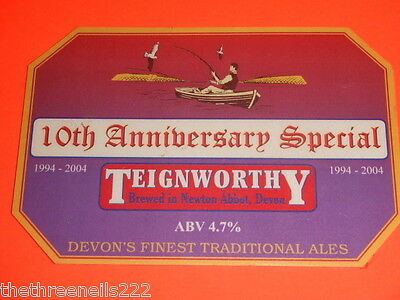 BEER PUMP CLIP - TEIGNWORTHY 10th ANNIVERSARY SPECIAL