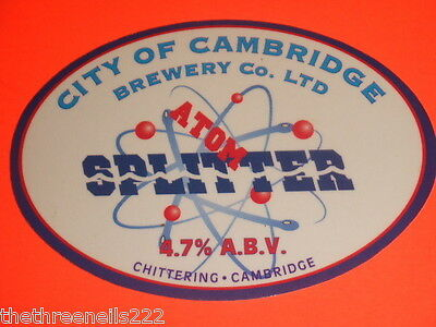 Beer Pump Clip - City Of Cambridge Atom Splitter