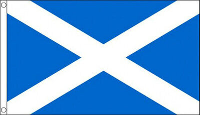 3' x 2' ST ANDREWS FLAG Light Blue Saltire Cross Scotland Scottish Saint Andrew
