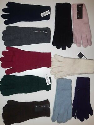 1 pair of Ladies lambs wool Angora knitted gloves assorted colours winter warm