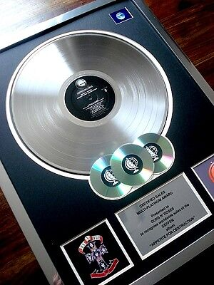 Guns N' Roses Appetite For Destruction Lp Multi Platinum Disc Record Award Album