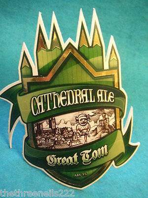 BEER PUMP CLIP - GREAT TOM CATHEDRAL ALE (with clip)