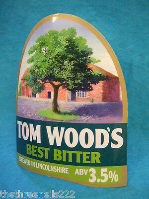 BEER PUMP CLIP - TOM WOOD'S BEST BITTER (with clip)