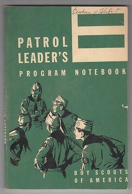 BSA Boy Scout Book: Patrol Leader's Program Notebook - 1966