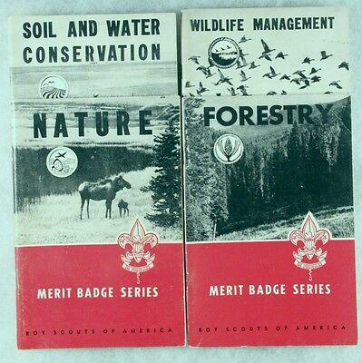 BSA Boy Scout Book: Lot of 4 Early 1960's Merit Badge Manuals Nature Related