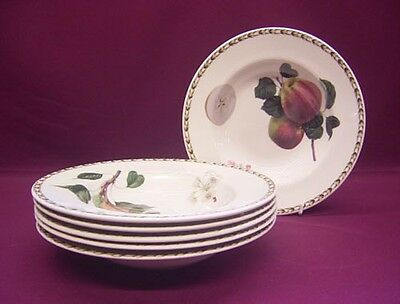 Queens Hookers Fruit 6 Rimmed Soup Bowls - New/unused