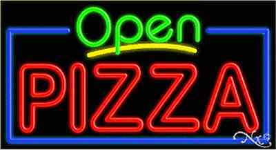 """BRAND NEW /""""PIZZA/"""" 24x8x3 VERTICAL REAL NEON SIGN W//CUSTOM OPTIONS 12281"""