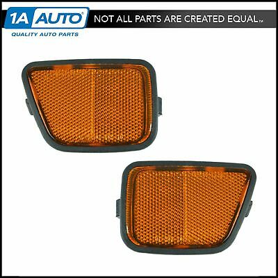 Front Side Marker Reflector Lamp Pair Set for 97-01 Honda CR-V CRV