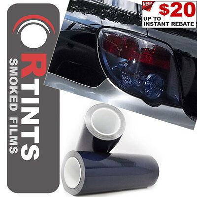"""Pro 48""""x12"""" Midnight Static Cling Smoke Tinted Film Sheet Cover for Acura & more"""