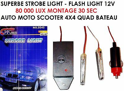 Super Strobe Light Flash Boitier 80 000 Lux! Regardez La Video ! Qualite Marine