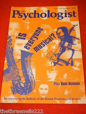 The Psychologist - Is Everyone Musical? - Aug 1994