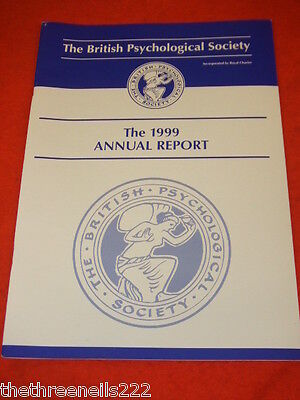 The British Psychological Society Annual Report 1999