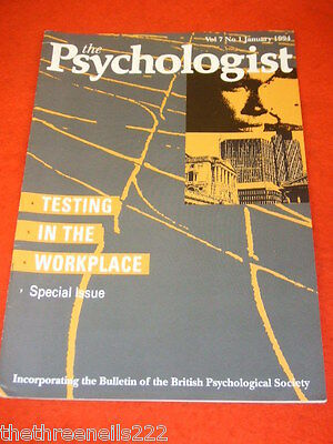 The Psychologist - Testing In The Workplace - Jan 1994