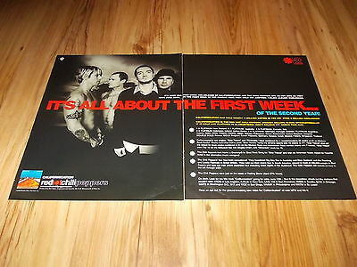 Red hot chili peppers-2000 large 2 page magazine advert