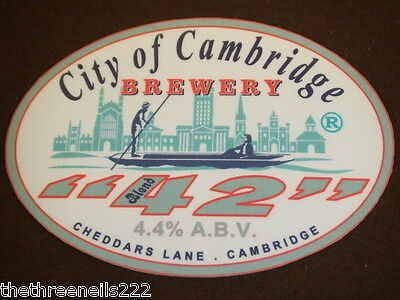 Beer Pump Clip - City Of Cambridge Blend 42