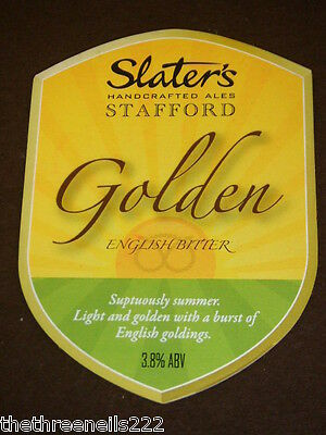 Beer Pump Clip - Slater's Golden English Bitter