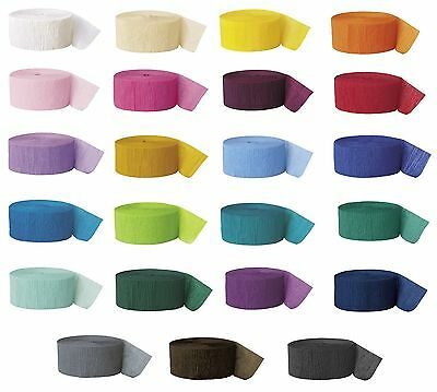 81'/25m CREPE STREAMERS (Party Decorations) ALL COLOURS {fixed £2 UK p&p}