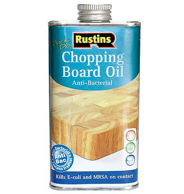 Rustins Anti-Bacterial Chopping Board Oil 250ml  Butchers Block and Worktop Oil