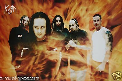 "KORN ""BAND STANDING IN FLAMES"" POSTER FROM ASIA - Nu & Alternative Metal Music"