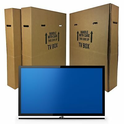 """TV Moving Box Flat Screen Fits TV's 32"""" To 70"""" Adjustable Box LCD,LED"""