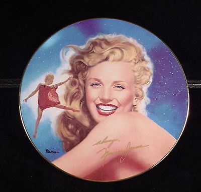 RARE MARILYN MONROE NORMA JEAN COLLECTORS PLATE SAMPLE PLATE  NO NAME BACK  1
