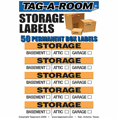 Storage Moving Labels Identify box contents with 50 labels