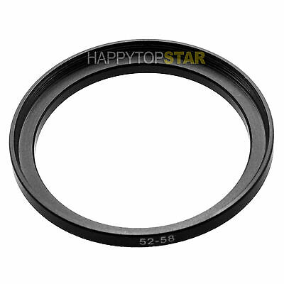 52mm to 58mm 52-58 mm Male to Female Photo Step-Up Lens Filter CPL Ring Adapter