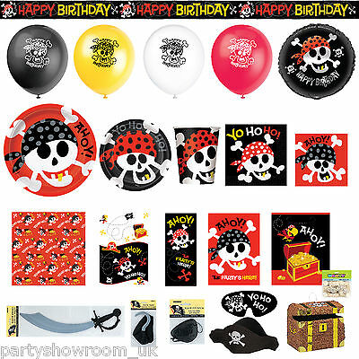 Happy Pirate Party Skull Tableware Balloons Decorations One Listing PS