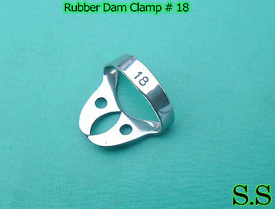 Endodontic Rubber Dam Clamp #18 Dental Instruments