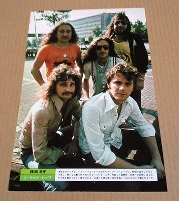 1975 Uriah Heep JAPAN mag photo pinup picture / mini poster / japanese