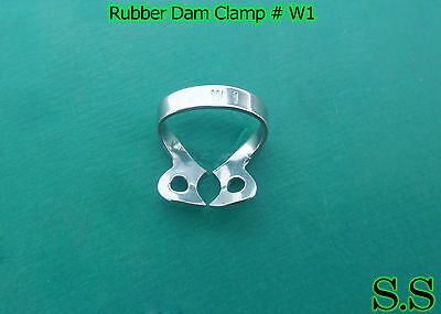6 Endodontic Rubber Dam Clamp #W1 Surgical Dental Instruments