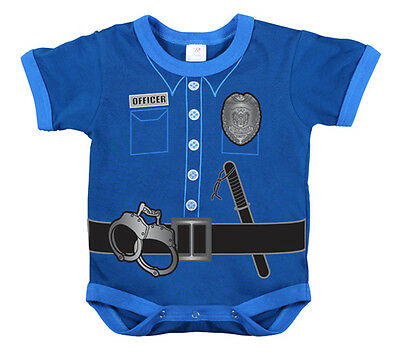Police uniform infant baby newborn one piece romper bodysuit tee shirt t-shirt