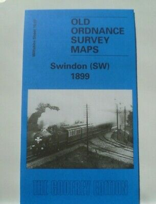 Old Ordnance Survey Map Swindon SW Wiltshire 1899 Sheet 15.07  New