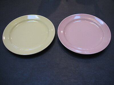 "Vintage LuRay pastel persian cream and sharon pink 6 1/4"" B&B plates-excond"