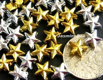 Wholesale 500 Gold Silver Stars Plastic Acrylic Beads
