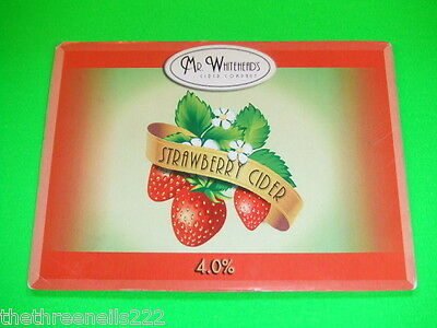 Beer Pump Clip - Mr Whitehead's Strawberry Cider