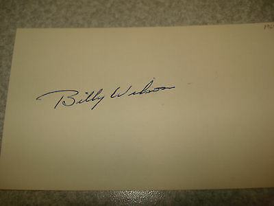 1969 Bill Wilson Autograph Index card Rare 3X5 Signed Debut  year Auto