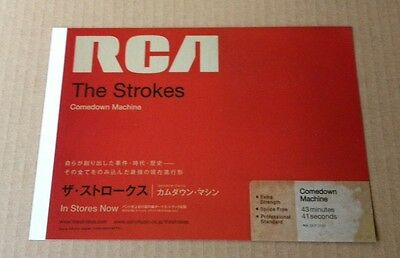 2013 The Strokes Comedown Machine JAPAN album photo promo ad / Japanese advert