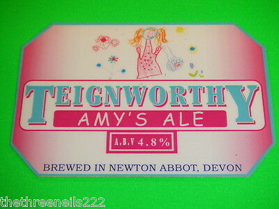 Beer Pump Clip - Teignworthy Amy's Ale