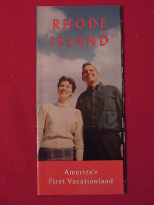 1960s Rhode Island Foldout Visitor Travel Pamphlet