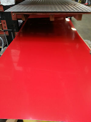 Aluminum Painted Red Sheet 2' x 4' x .040 Alloy 3003