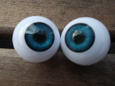 ROUND ACRYLIC DOLL EYES IN BLUE SIZES 8mm to-30mm Code GRP