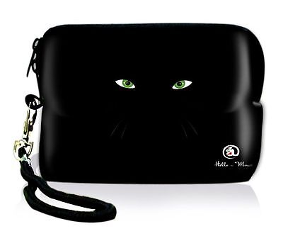 Eyes Soft Neoprene Case Bag Pouch For Digital Camera Cell Phone Itouch Iphone 5S
