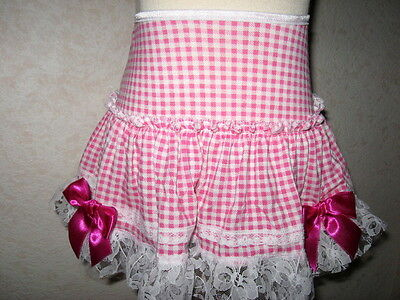 Baby Girls Pink,White Gingham Check lace Frilly Party,Gift Summer Skirt,Retro,