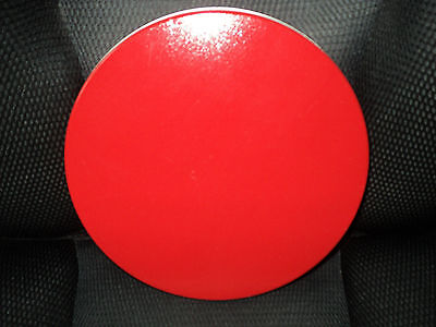 """Spare LID - TIN Cannister RED - Medium 8 5/8"""" Round"""