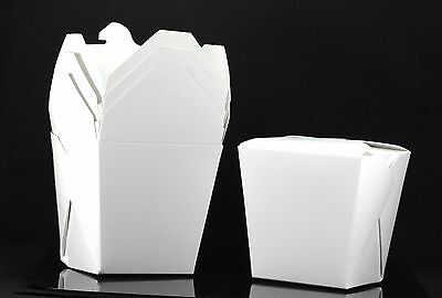 100x, 26oz Chinese Take Out / To Go Boxes, Microwavable, Gift Boxes, White