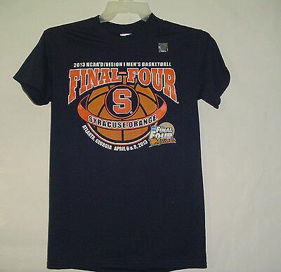 SZ Small SYRACUSE University ORANGE Mens Basketball 2013 NCAA Final 4 SU T-SHIRT