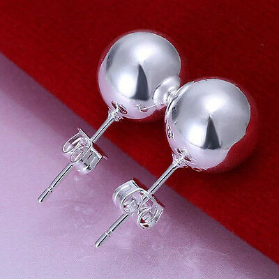 Wholesale 5pair Fashion Silver 925 solid bead Earring jewelry for women lady